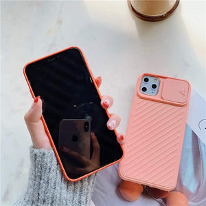 "Camera Sliding Door Design Dustproof iPhone 11 (6.1"") Case - Creamy Pink - MyPhoneCase.com"