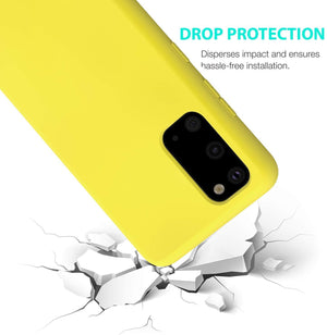 Nano Silicone Liquid Crystal Galaxy S20 Case - Boosted Yellow - MyPhoneCase.com
