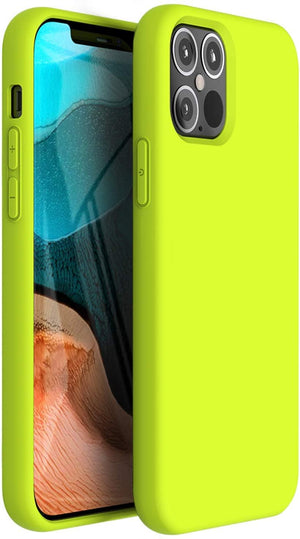 "Premium Liquid Silicone Soft Cover iPhone 12 Mini (5.4"") Case - Yellow"