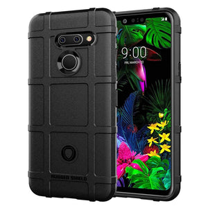 MPC Rugged Bumper LG G8 ThinQ Case - Black - MyPhoneCase.com