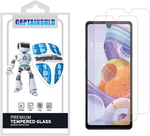 Captainshld Tempered Glass Screen Protector For LG Stylo 6 [2-Pack]