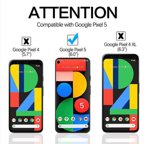 Anti-Scratch Bubble Free Tempered Glass Google Pixel 5 Screen Protector 3-Pack - MyPhoneCase.com