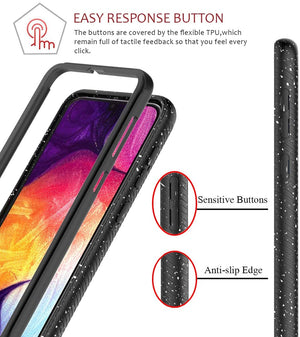 Splash Tough Fusion-X Galaxy A50 (2019) Case - Clear/Black - MyPhoneCase.com