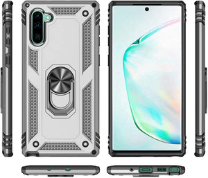 Heavy Duty Ring Stand Galaxy Note 10 Case - Silver - MyPhoneCase.com
