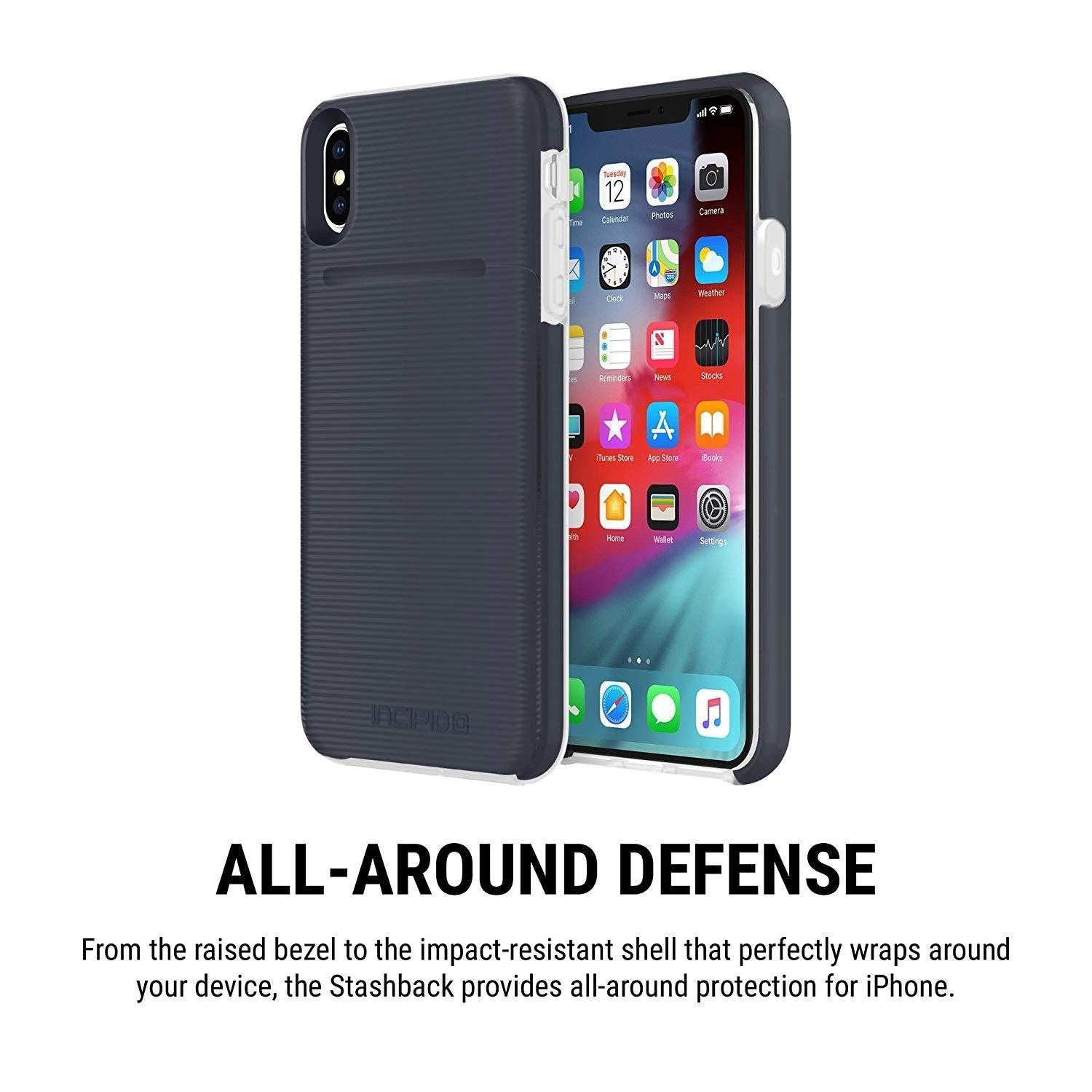 finest selection 2a875 f8115 Incipio Stashback iPhone XS MAX Case - Blue