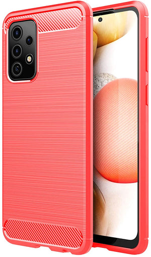 Slim Fit Brushed Armor Galaxy A52 Case - Orange Red