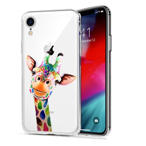 Cute Animal Design Slim Fit Soft TPU iPhone XR Case - Giraffe - MyPhoneCase.com