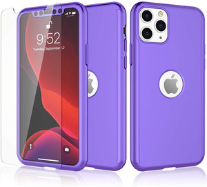 MPC 360° Full-Wrap Thin Fit iPhone 11 Pro Case w/ Tempered Glass - MyPhoneCase.com