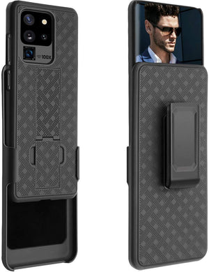 Rugged Slim Fitted Shell Holster Galaxy S20 Ultra Kickstand Case Combo - MyPhoneCase.com