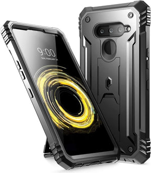 Poetic Revolution Series Kickstand LG V50 ThinQ 5G Case - Black - MyPhoneCase.com