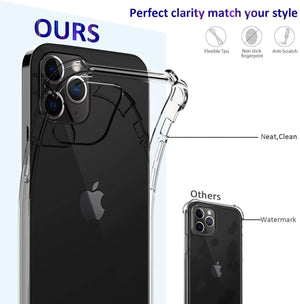 "Shock-Absorption Crystal Bumper iPhone 12 Pro Max (6.7"") Case - Clear"