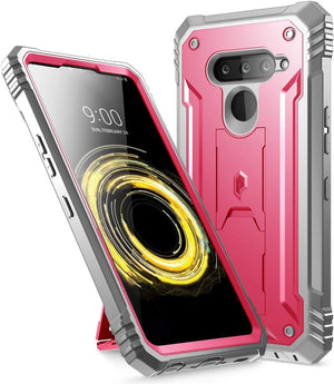 Poetic Revolution Series Kickstand LG V50 ThinQ 5G Case - Pink - MyPhoneCase.com