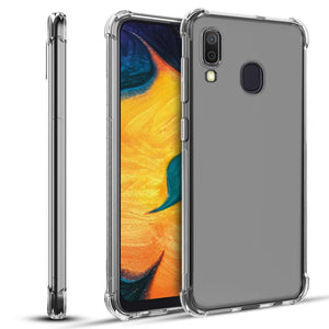 Shockproof Transparent Bumper Galaxy A20 (2019) Case - Clear - MyPhoneCase.com