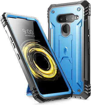 Poetic Revolution Series Kickstand LG V50 ThinQ 5G Case - Blue - MyPhoneCase.com