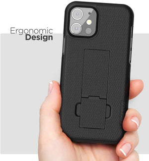 "Encased DuraClip Fitted Shell iPhone 12 Mini (5.4"") Case Belt Clip Holster"