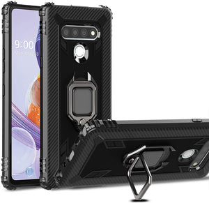 Tough Armor Rugged Ring-Stand LG K51 Case - Jet Black