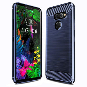 MPC Slim Armor Carbon LG G8 ThinQ Case - Blue - MyPhoneCase.com