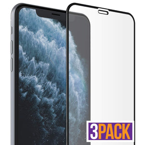 Full Coverage iPhone XS Max / 11 Pro Max Tempered Glass (3-Pack) - MyPhoneCase.com
