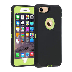 "Heavy Duty Rugged Tough Shell iPhone 8 / 7 (4.7"") Case - Black/Green - MyPhoneCase.com"