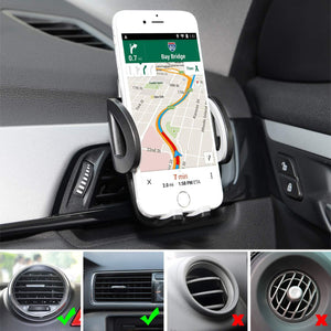 Air Vent Phone Holder Car Mount Quick Release Button Adjustable Clamp - MyPhoneCase.com