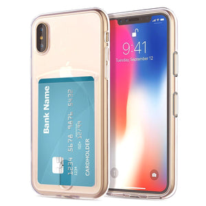 Slim Fit TPU with Card Slot iPhone XS MAX Case - Crystal Clear - MyPhoneCase.com