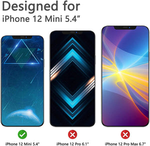 Anti Spy Privacy Tempered Glass Screen Protector for iPhone 12 Mini [2-Pack]