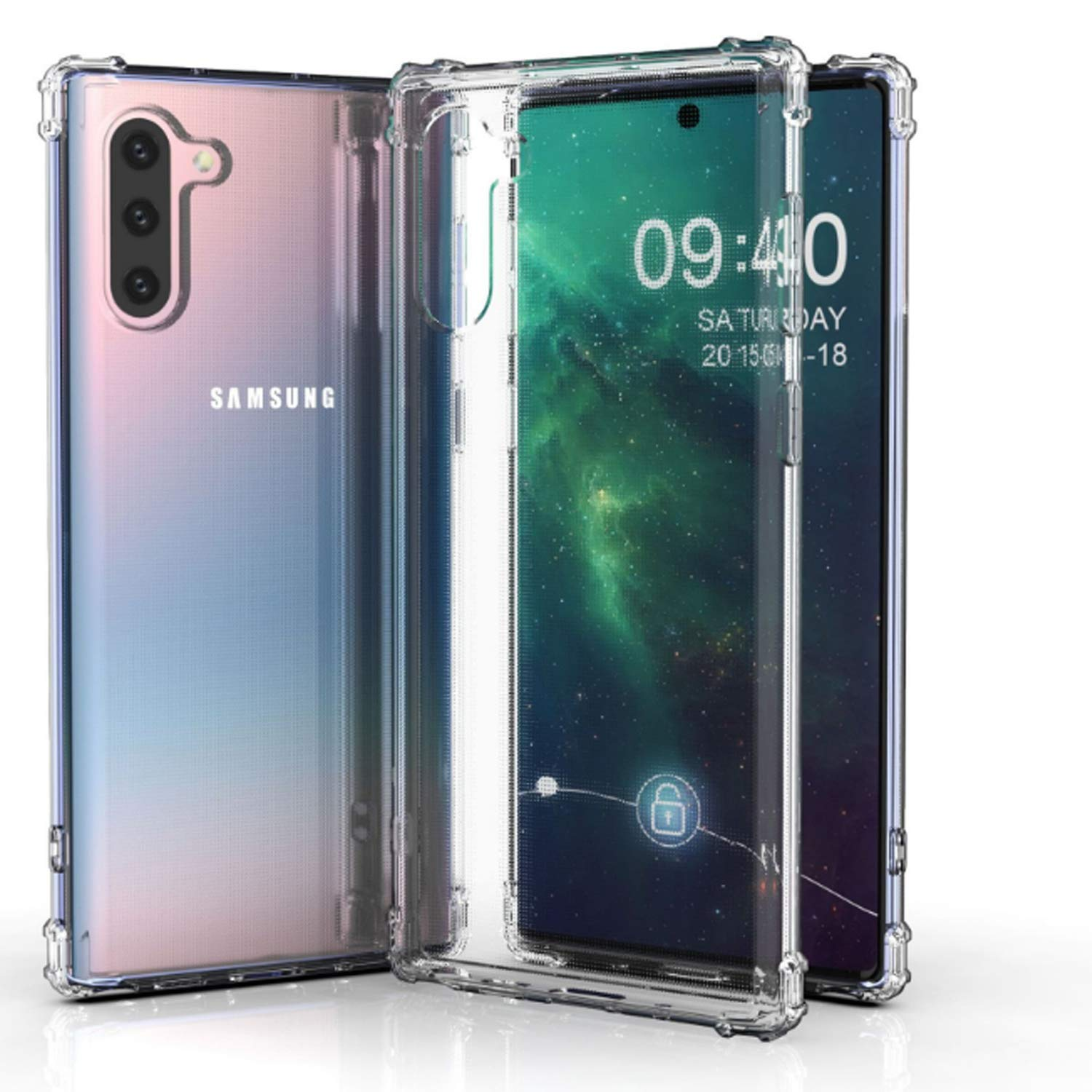 Shockproof Bumper Galaxy Note 10 Case - Transparent Clear - MyPhoneCase.com