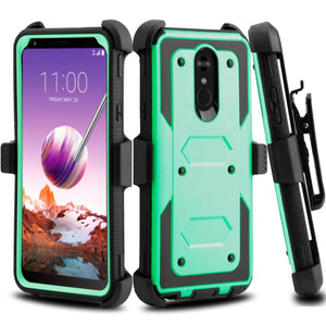 Heavy Duty Shockproof LG Stylo 4 / Stylo 4+ Case Holster - Turquoise - MyPhoneCase.com