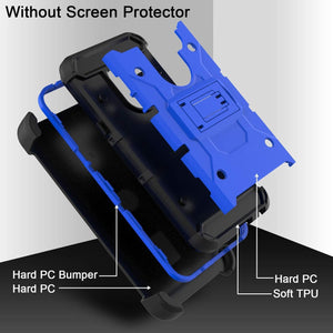 Heavy Duty Armor LG G8 ThinQ Case Holster - Blue - MyPhoneCase.com