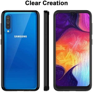 Air Hyrid Armor Shock-proof Galaxy A50 (2019) Case - Black/Clear - MyPhoneCase.com