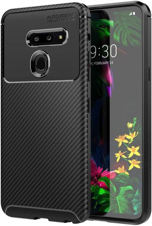 Slim Carbon Armor LG G8 ThinQ Case - Black - MyPhoneCase.com