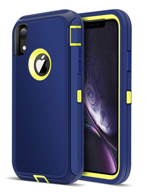 Heavy Duty Shockproof iPhone XR Defender Case - Navy Blue - MyPhoneCase.com