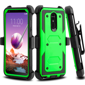 Heavy Duty Shockproof LG Stylo 4 / Stylo 4+ Case Holster - Green - MyPhoneCase.com