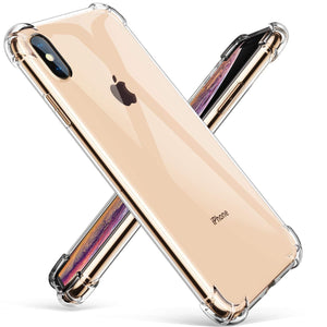 Shock Absorption Bumper iPhone XS MAX Case - Crystal Clear - MyPhoneCase.com