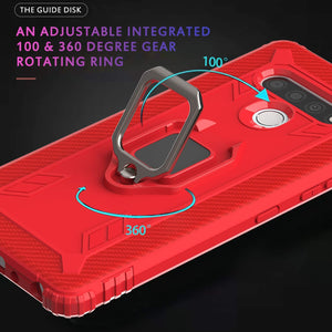 Tough Armor Rugged Ring-Stand LG K51 Case - Red
