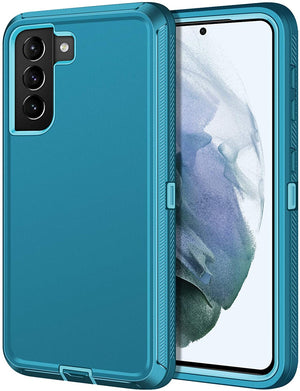 "Rugged Defender Armor Galaxy S21 5G (6.2"") Case - Teal Green"