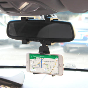 Universal Car Rear-view Mirror Mount Phone Holder - MyPhoneCase.com