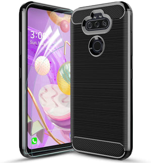 Brushed Slim Carbon Armor LG Aristo 5 / K31 / Phoenix 5 / Fortune 3 Case - MyPhoneCase.com