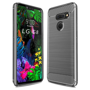 MPC Slim Armor Carbon LG G8 ThinQ Case - Gray - MyPhoneCase.com