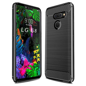 MPC Slim Armor Carbon LG G8 ThinQ Case - Black - MyPhoneCase.com