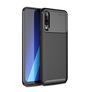 Slim Carbon Hybrid Galaxy A50 (2019) Case - Black - MyPhoneCase.com