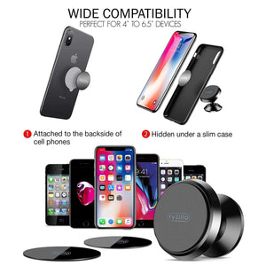Magnetic Car Phone Holder Swivel Grip 360 Degree Rotation - MyPhoneCase.com