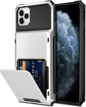 Stash-back 4 Card Slot Wallet iPhone 11 Pro Max Case - White