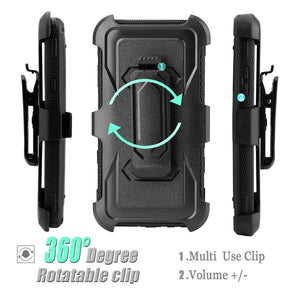 Heavy Duty Shockproof LG Stylo 4 / Stylo 4+ Case Holster - Black - MyPhoneCase.com