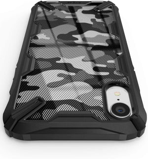 Ringke FUSION-X Shockproof Armor iPhone XR Case - Camo Black - MyPhoneCase.com