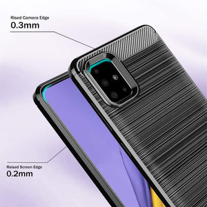Brushed Carbon Slim Armor Galaxy A51 (Not 5G) Case - Black