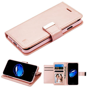 Essential Leather Wallet Stand Case for iPhone 7/8 - Rose Gold - MyPhoneCase.com