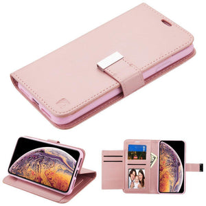 "Essential Leather Wallet iPhone Xs Max (6.5"") Case - Rose Gold - MyPhoneCase.com"