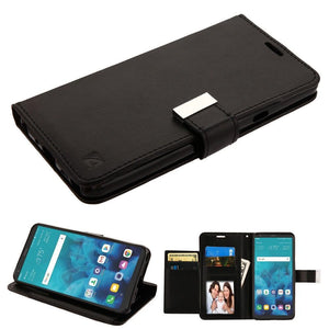 PU Leather Extra Slot Wallet LG Stylo 4 / Stylo 4+ Case - Black - MyPhoneCase.com