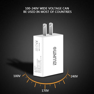 DW Universal Slim Dual USB Travel Wall Charger (Full 2.1A) - MyPhoneCase.com